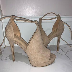Tan Suede Heels, Aldo, Size 6.5